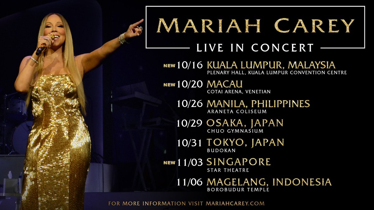 Just announced 🎙️ New dates in Malaysia, Macau and Singapore! More details @ https://t.co/iCGLcnrLHj
