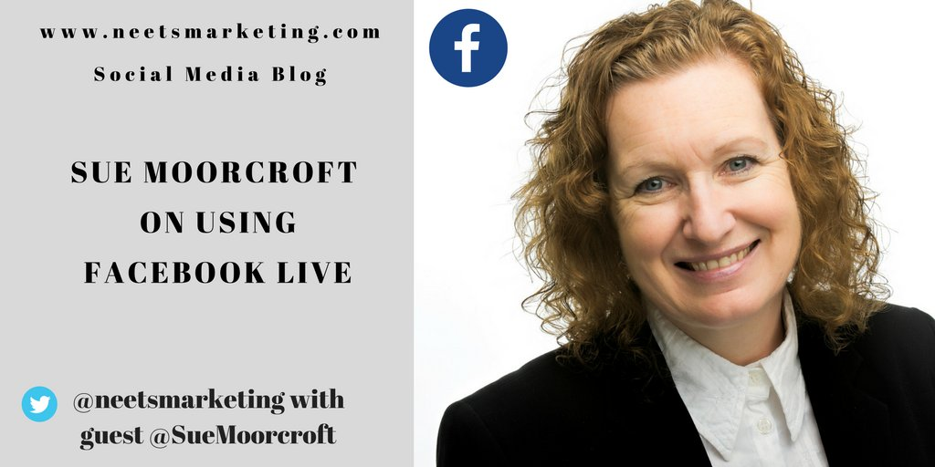 If the idea of talking on live video is a bit scary, but you&#39;re thinking about dipping a toe into the world of Facebook Live, this guest post by @SueMoorcroft tells all, with examples and a clear guide on how to set up   http://www. neetsmarketingblog.com/2018/03/sue-mo orcroft-on-using-facebook-live.html &nbsp; …  #socialmediamarketing #bookmarketing<br>http://pic.twitter.com/NmYm8fSkuC