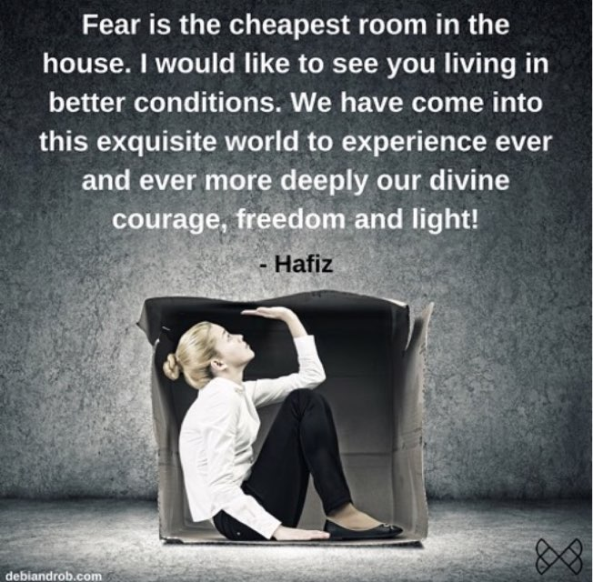 No need to live in Fear. Chose to live in Courage &amp; Faith The Choice is ours.  #Inspiration #LifeLessons  #Motivation <br>http://pic.twitter.com/53HjfLrfBN