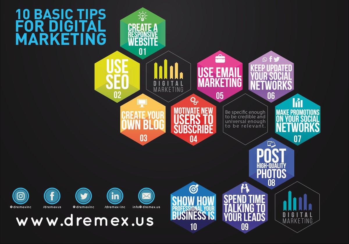 &quot;10 basic tips for #DigitalMarketing &quot;   #InboundMarketing #Marketing #SocialMedia #EmailMarketing #SEO #SMM #webdesign #GrowthHacking @affleaders<br>http://pic.twitter.com/ahUki5U4NL