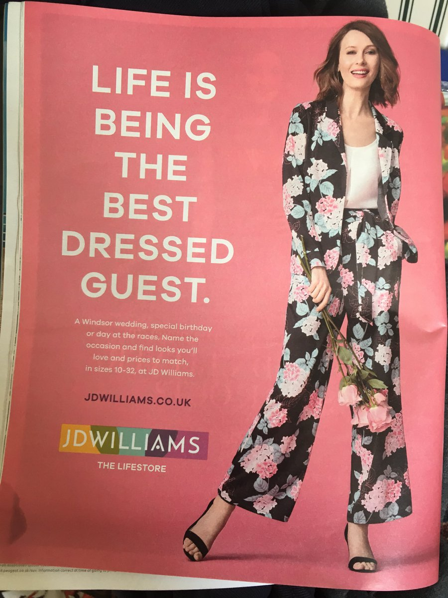 Delighted to see the woman in this advert has ignored its ridiculous message.