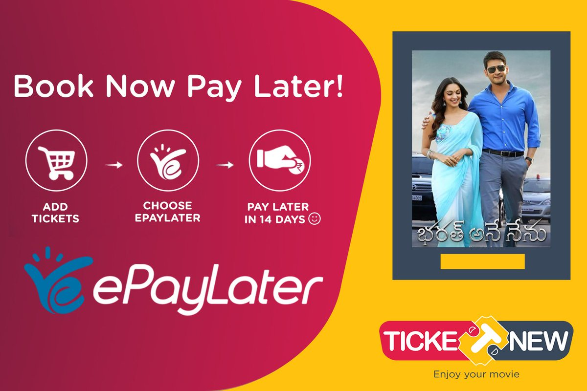 Kickstart weekend with #movies! Buy movie tickets and pay later anytime within 14 days with #ePayLater on Ticket New.  #SignUp -  http:// goo.gl/tfeJBu  &nbsp;  <br>http://pic.twitter.com/P1y1Ovu9lO