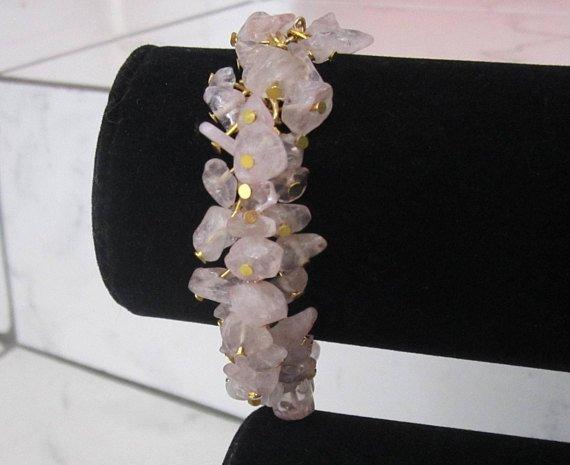 Rose Quartz Bracelet Gold Pink Crystal Cluster Bracelet Natural Raw Gemstone Gift For Mom  https:// etsy.me/2HfqLuI  &nbsp;   via @Etsy #love #healingcrystals #rosequartz #mothersday #giftformom #handmade #fashion #jewelry #mothersdaygift #etsyspecialt @FlyRts @BlazedRTs @FameRTs @RTDNR<br>http://pic.twitter.com/UtSKMesbNi