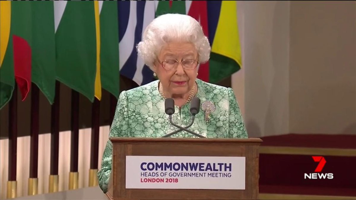Image for the Tweet beginning: The Queen has urged Commonwealth
