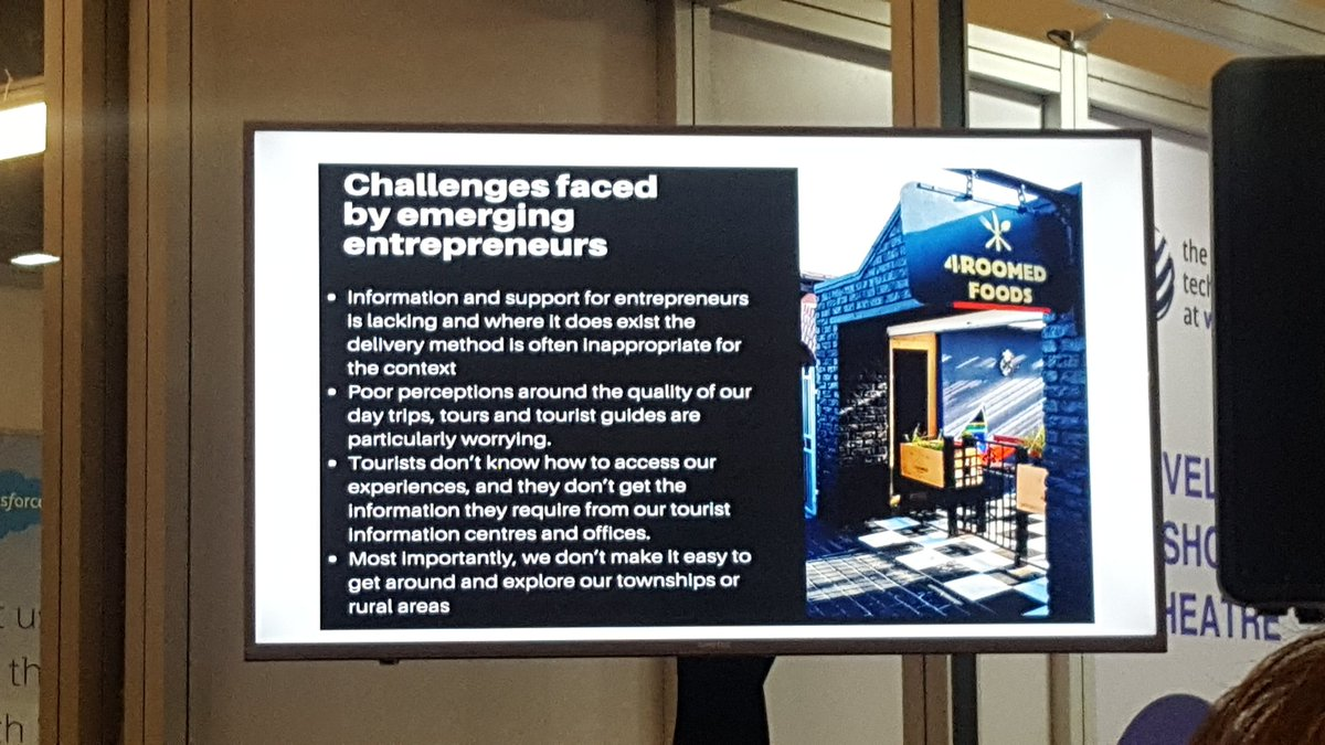 .@DiscoverIkasiZA sharing challenges faced by emerging township entrepreneurs.Thanks to support from @BerthaCentre @CityofCT @awscloud @Cape_IT, this Tech company provides a platform for township businesses to reach the market #InclusiveGrowth #WTMA2018 @InvestCapeTown<br>http://pic.twitter.com/ghXVCrtVDO
