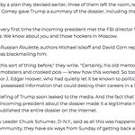 So President-elect meets FBI director alone for first time, and FBI director's message is: We know about you and those hookers in Moscow. Any wonder Trump had visions of J. Edgar Hoover? https://t.co/y5LAsYCo7W