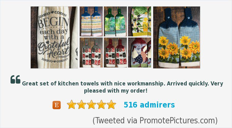 Check out my shop for half towels and full towels with crocheted hanging topper/loop.  http://www. simplybycindy.etsy.com  &nbsp;   #MothersDayGift #GiftForHer #Handmade #CraftShout #ShoppersHour #EpiconEtsy #EtsyShop #EtsySeller   https://www. etsy.com/shop/SimplybyC indy?ref=seller-platform-mcnav &nbsp; …  (Tweeted via  http:// PromotePictures.com  &nbsp;  )<br>http://pic.twitter.com/OAYQoLaaWM