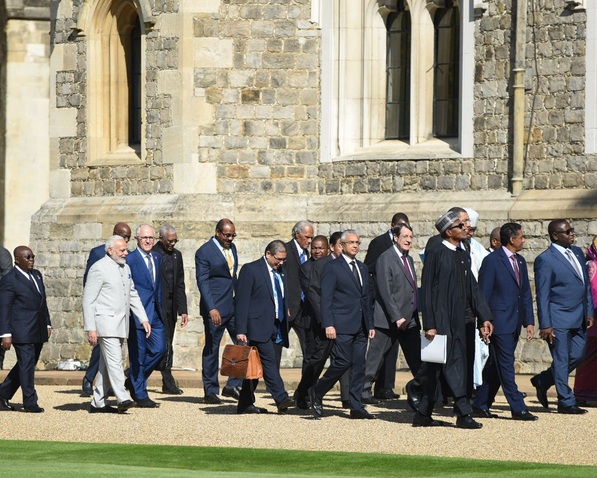 PM @narendramodi took part in the Leaders Retreat at Windsor Castle . #CHOGM2018 @Commonwealth18
