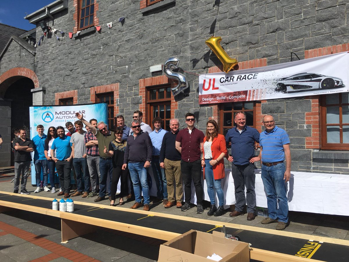 Great day for the 130 students who competed at the #ULCarRace event. Thanks to our industry partners @ModularAuto and @JNJNews, who (like ourselves) were really impressed with the students&#39; work. Very proud of our 1st year Engineers. #CDIO #StudyAtUL <br>http://pic.twitter.com/wbwqRqRG3a