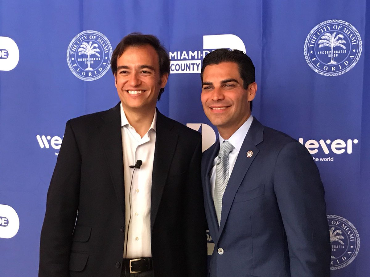 Jose Almansa, #CEO &amp; Founder #Welever together with the City of #Miami Mayor, @FrancisSuarez. All ready for the #WeleverLaunchUSA.<br>http://pic.twitter.com/14OII6Jbb9
