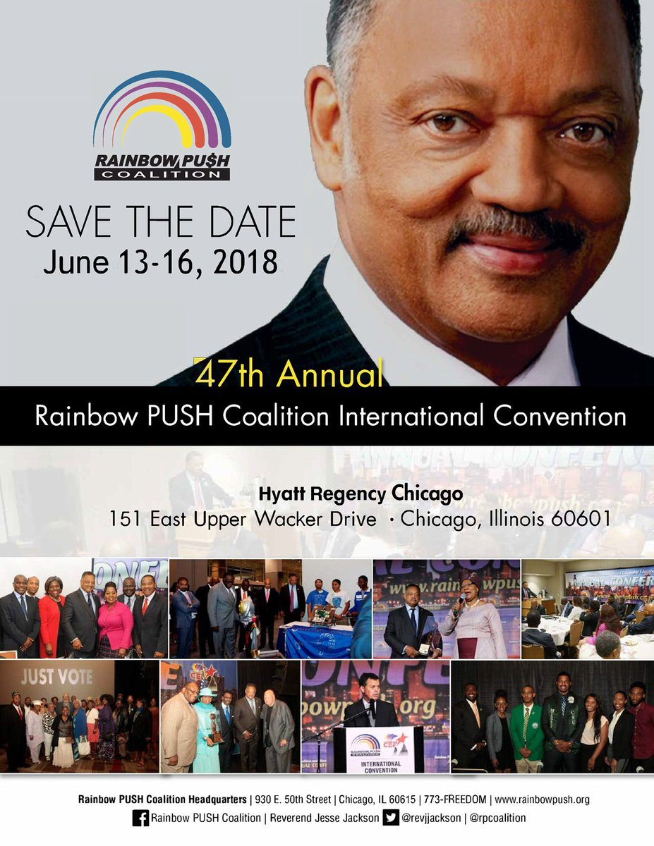 SAVE THE DATE! 47th Annl @RPCoalition Intl Convention   @HyattChicago 6.13-16, 2018  REGISTER TODAY! https://t.co/9FLkNIcMTM #RPCCONV2018 #VotingMatters #AfricaRising #StopTheViolence #Labor #SaveTheChildren #Daca#EnoughIsEnough #BlackLivesMatter #Education #Jobs #Justice #Health