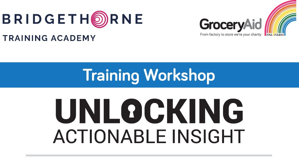 &quot;A thought provoking workshop that focused on delivering the learning in practice not just in theory&quot; - sign up now for our Unlocking Insights workshop in aid of @groceryaid &amp; you can benefit as well. #training #FMCG  http:// ow.ly/fyUd30jzFKY  &nbsp;  <br>http://pic.twitter.com/inpq3TM0iz