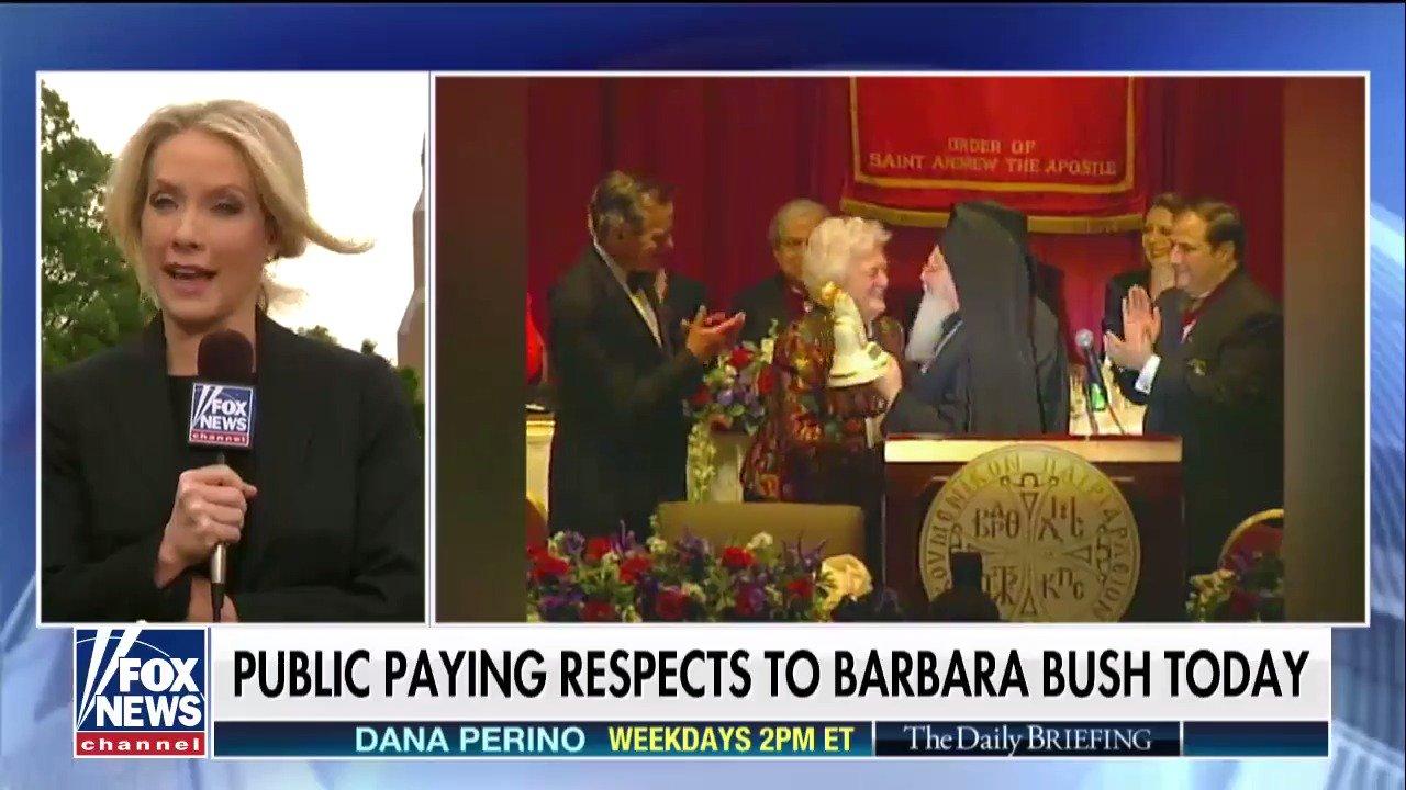 Public pays respects to Barbara Bush today; @DanaPerino reports. https://t.co/sjxOxr7ekO https://t.co/EUCYrEd8Yi