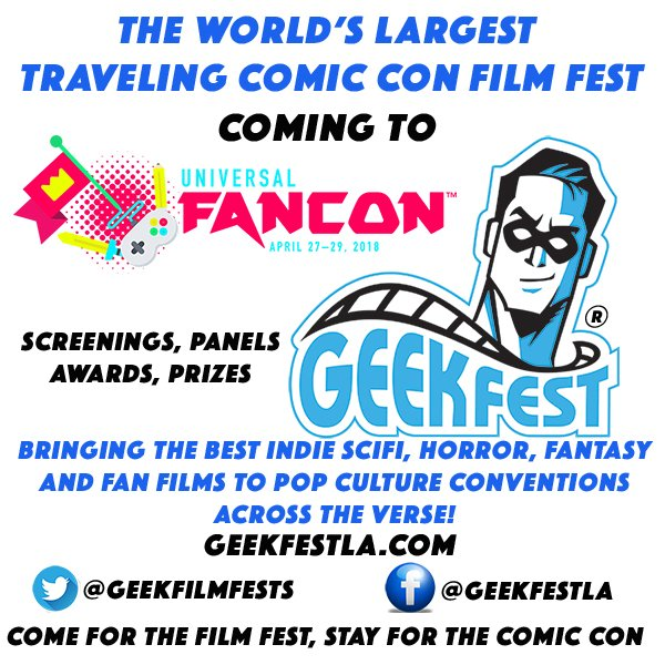 One week til @GeekFilmFests @UniversalFanCon  Get your tickets NOW! Come for the #FilmFestival Stay for the #ComicCon  http:// bit.ly/GeekFestUFC18  &nbsp;   Discount Code GeekFestFanCon18<br>http://pic.twitter.com/TZhU4iIa0A