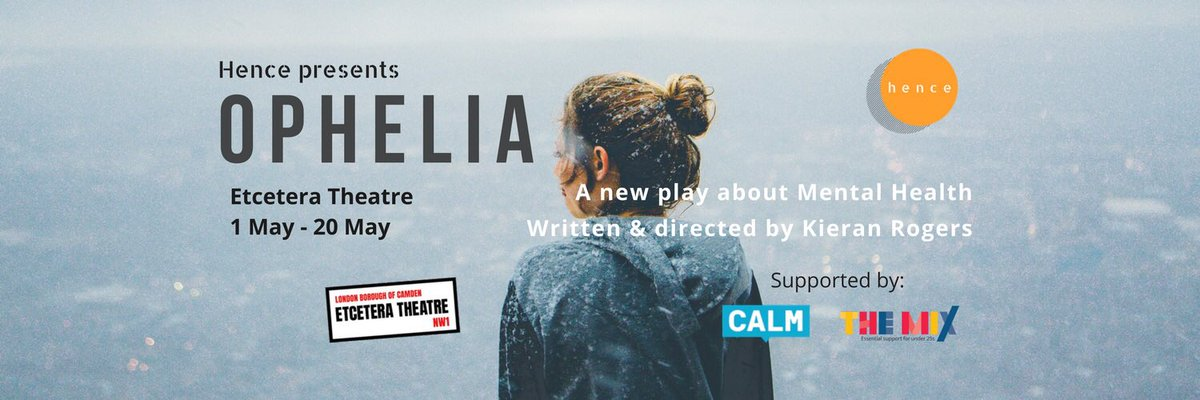 We&#39;re flattered &amp; honoured to have our show #Ophelia @EtceteraTheatre sponsored by the amazing charities @theCALMzone &amp; @TheMixUK   Two charities doing important work for #MentalHealthAwareness and #wellbeing. Please check them out &amp; support their amazing work  #theatre<br>http://pic.twitter.com/gxPtv5gSj2