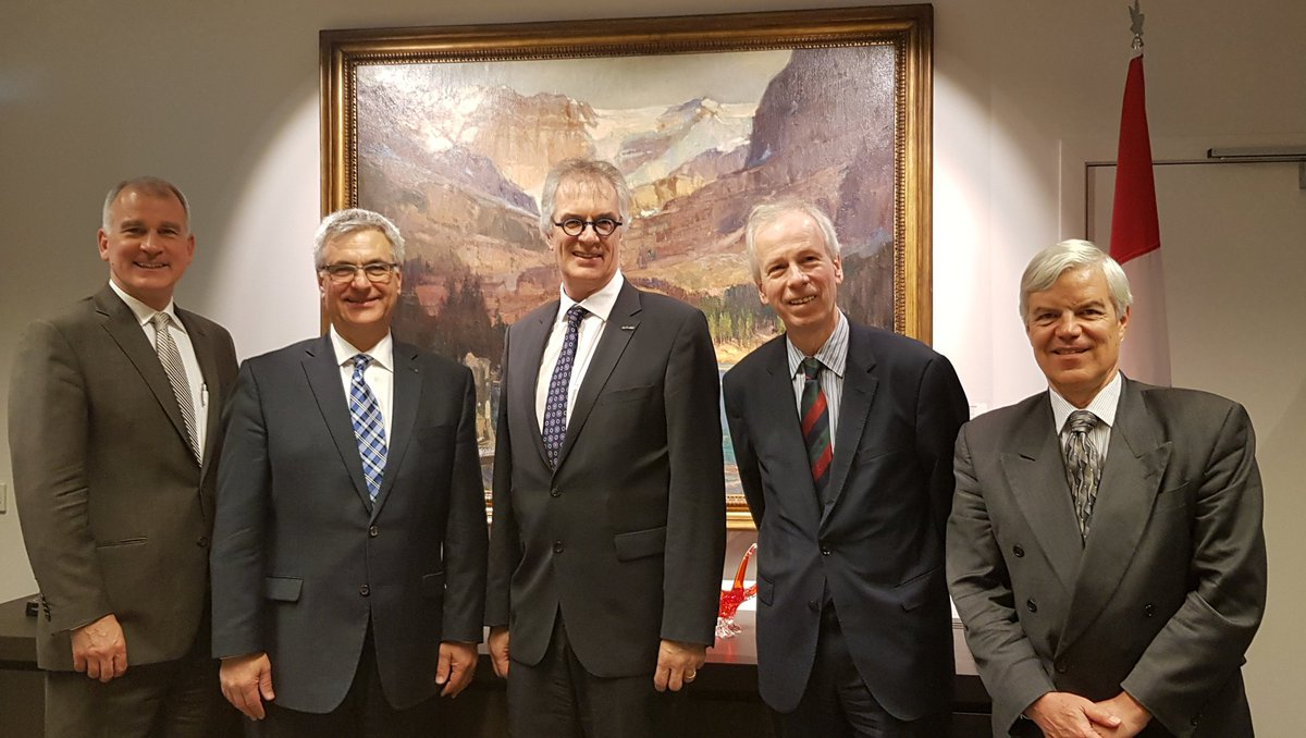 Wonderful meeting with our Canadians colleagues and ambassadors @AmbStephaneDion, @CostelloCanada and @NicoloffOlivier to talk about the importance to foster Canadian exchange and collaboration inside and outside of #Canada with #Quebec minister @JeanMFournier_ &amp; @MichelAudetQC<br>http://pic.twitter.com/sZYUhrKRuU