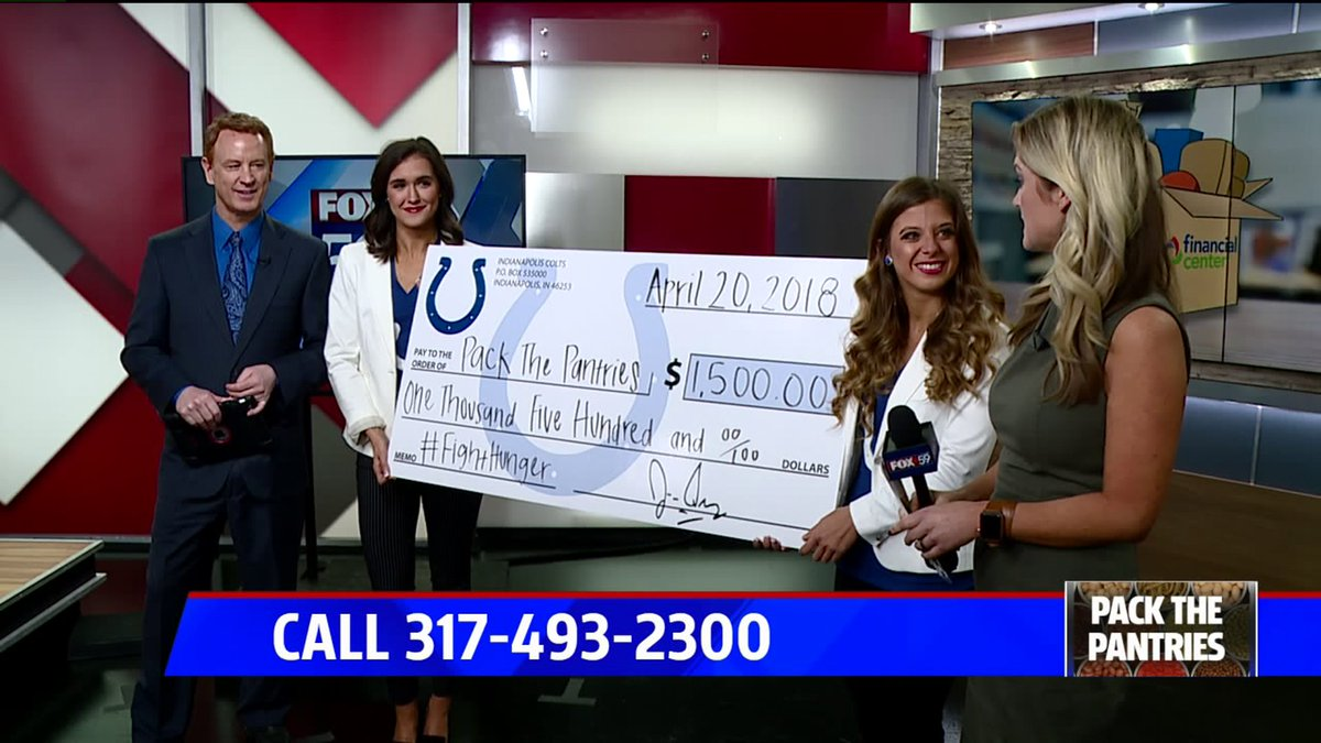 Big thanks to the @Colts for this big donation to #PackThePantries! Here&#39;s how you can donate throughout the day:  http:// via.fox59.com/H67xo  &nbsp;   #FOX59Morning <br>http://pic.twitter.com/3YOPtCGHXd