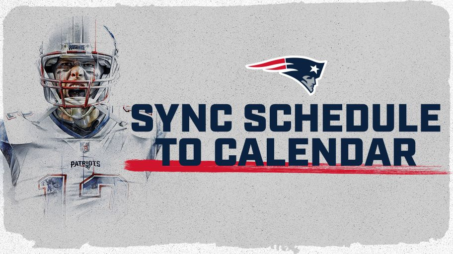 Don't miss a matchup. Sync the 2018 #Patriots schedule.  ��➡��: https://t.co/A3GOD3kLno https://t.co/nYrv15ZSLt