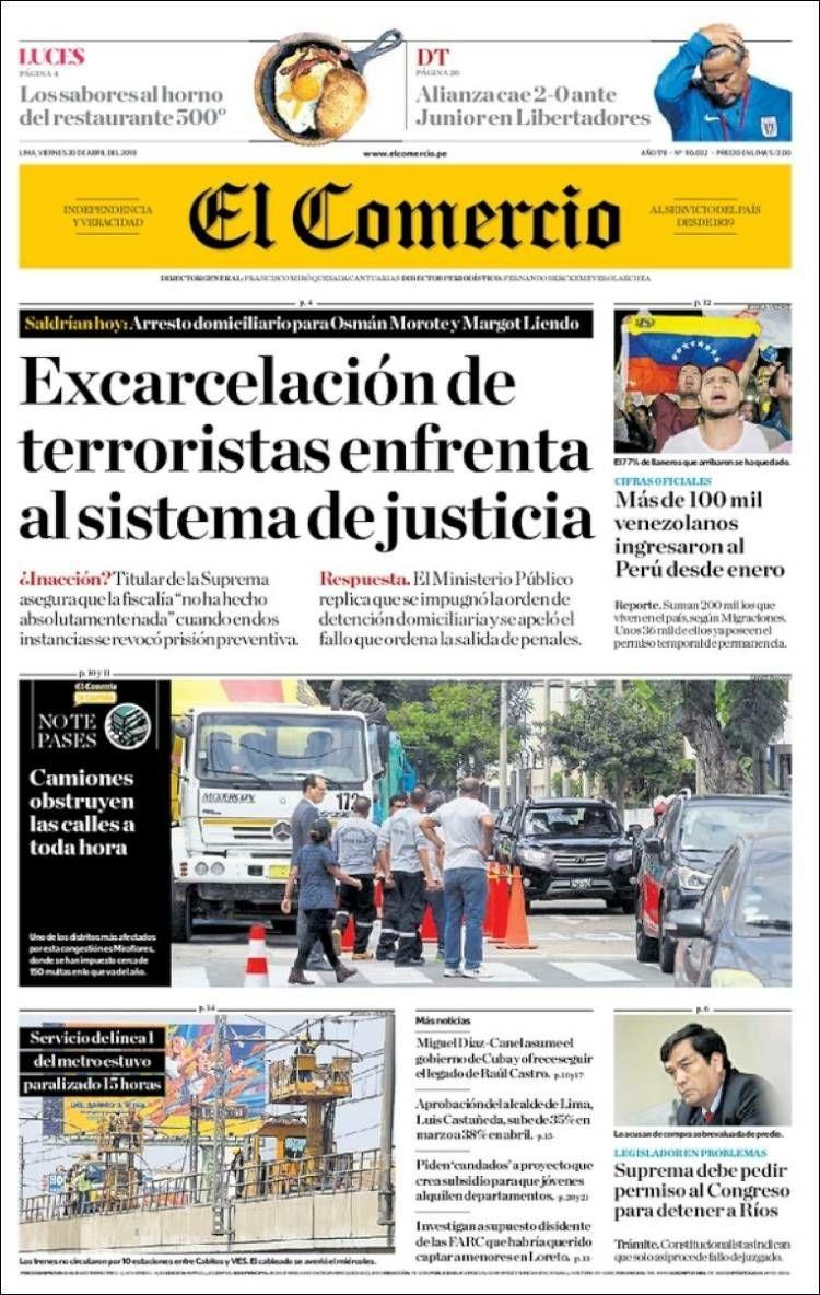 #20Abr EL COMERCIO   Más de 100 venezola...