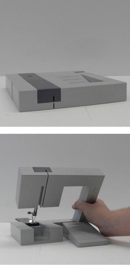 このミシンデザイン 素晴らしいなぁ。 問題はどれくらい縫えるかだけど、普通地のものが難なく縫えるなら持ち歩けばいつでも何処でも縫えちゃうねぇ。