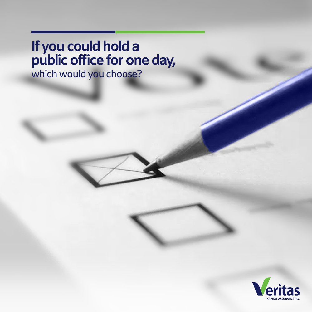 #TGIF If you could hold a public office...