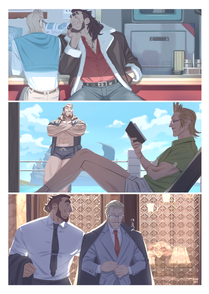 my entries for the @FFXVogue zine!