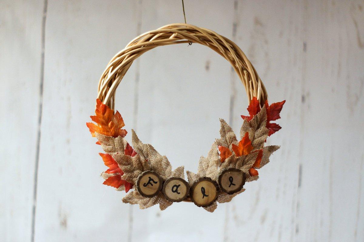 Sarah Gft On Twitter Home Rustic Wreath Log Slice Wreath