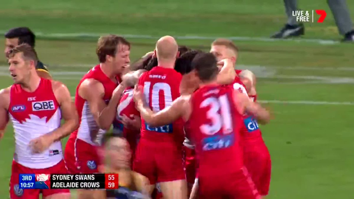 AFL's photo on #AFLSwansCrows