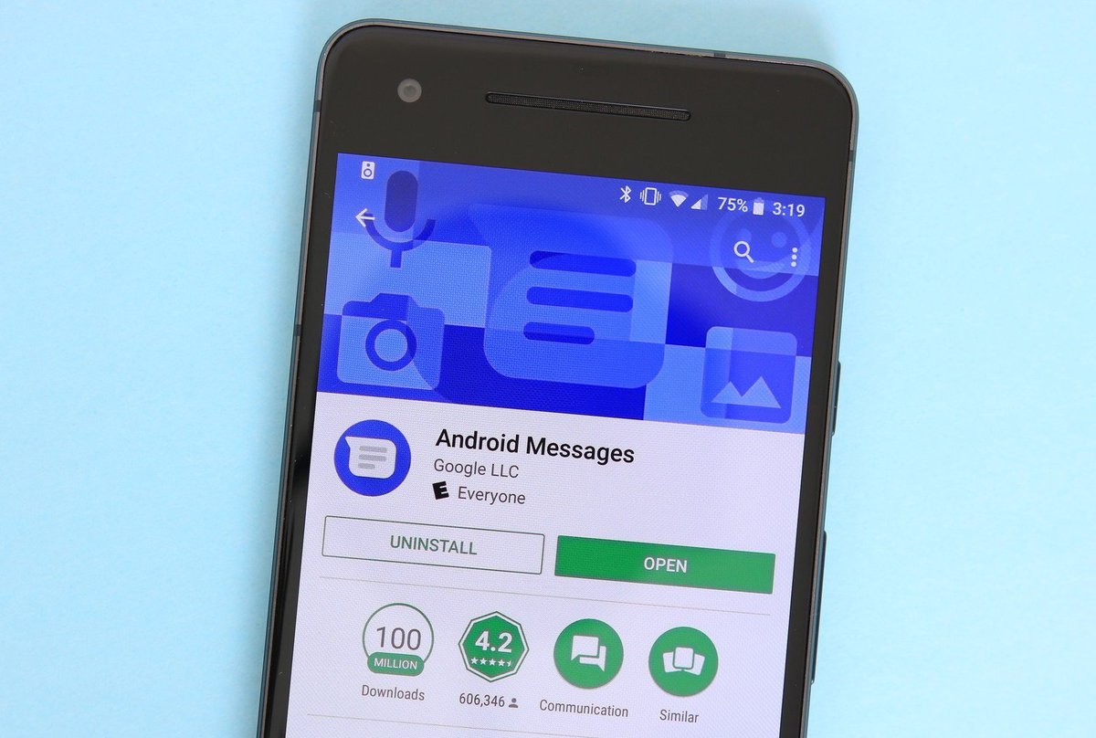 use google allo as default sms