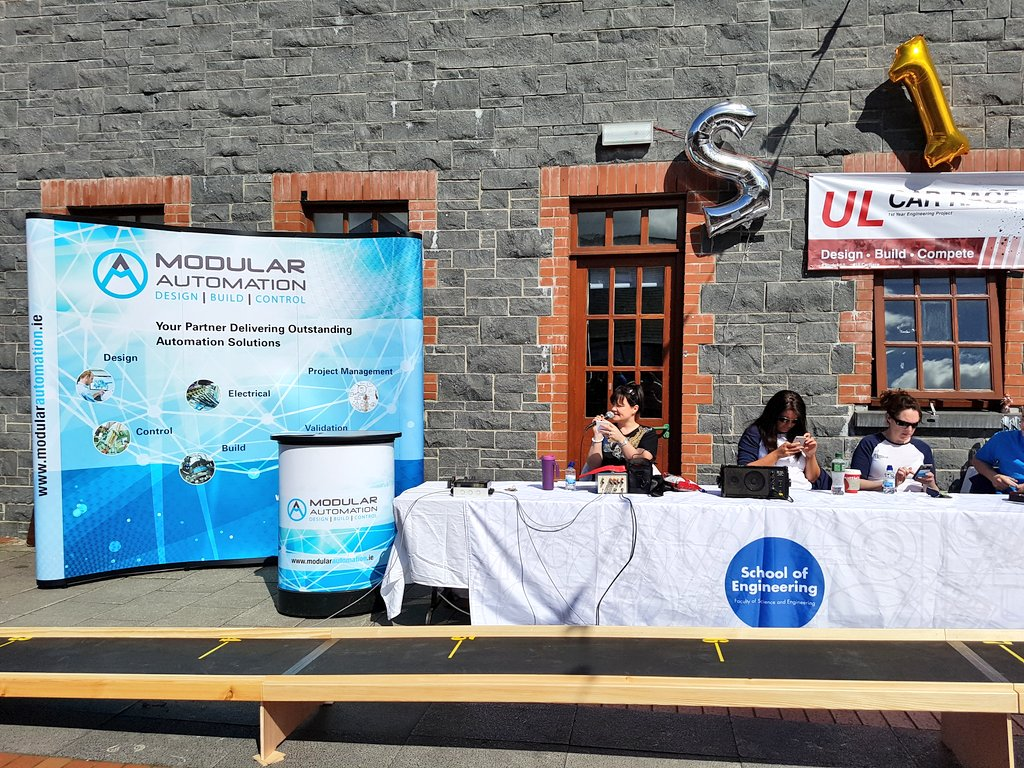 Fantastic morning of racing, special thanks to @ModularAuto for sponsoring the event!  #ULCarRace #StudyatUL #Engineering<br>http://pic.twitter.com/JhCTk5oqy5