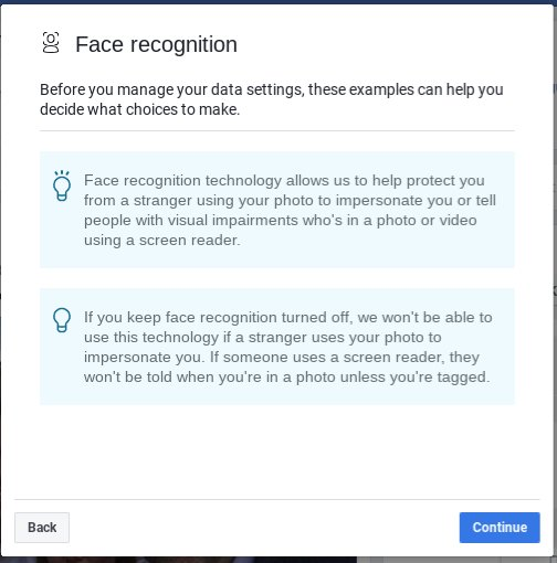 Sure #Facebook, I&#39;ll take a milisecond to consider whether you want me to enable #facialrecognition for my own protection or your #data #tracking business model. #Disingenuous pricks!<br>http://pic.twitter.com/s7nngaHVSq