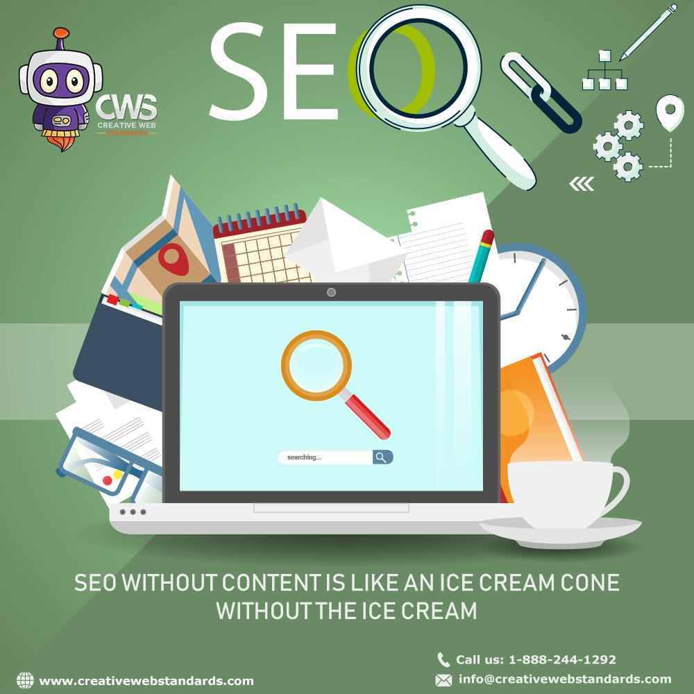 SEO without Content is like An Ice Cream Cone without the Ice Cream  For More Details Call Us on: 1-888-244-1292 Or Visit:  http://www. creativewebstandards.com/services/digit al-marketing/search-engine-optimization &nbsp; …   #SEO #DigitalMarketing #SEOexperts #SEOservices #searchengines #google #USA<br>http://pic.twitter.com/ErpxM3iCZc