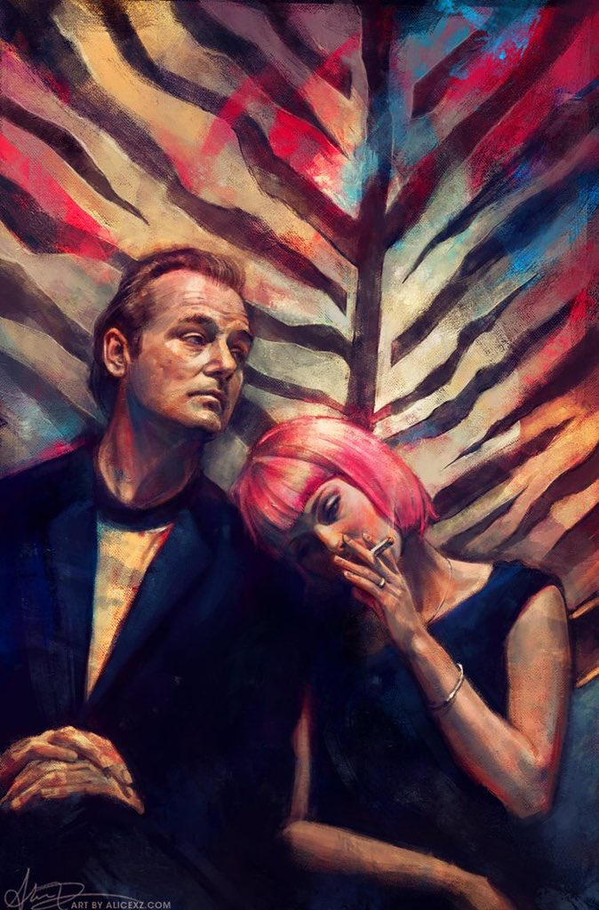 In love with this marvellous artwork created by artist @alicexz for #LostInTranslation    Absolutely beautiful! Well done.   #Artwork #Artist #Art #Talented #Beautiful  #SofiaCoppola #BillMurray #ScarlettJohansson #Cinema #Painting <br>http://pic.twitter.com/7luT88MML1