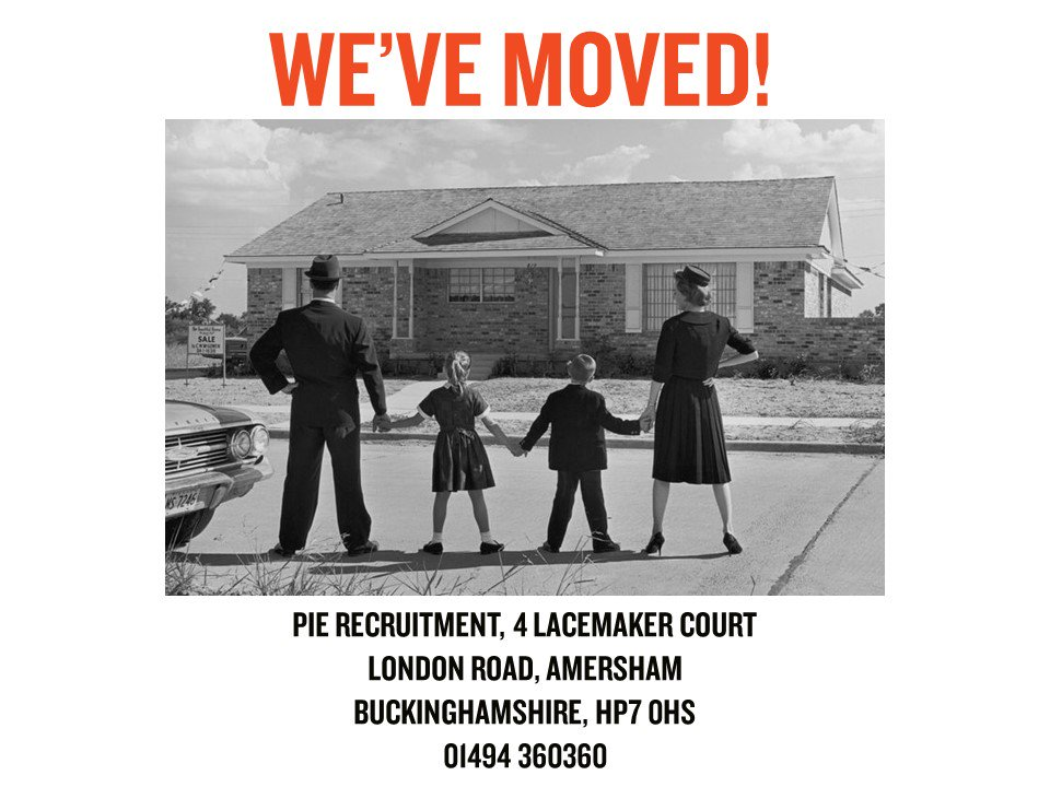 It&#39;s been a great week here at PIE! We&#39;ve officially #moved   If you&#39;re looking for a new #Sales or #Marketing opportunity within the #FMCG, #Automotive or #B2B sectors, then you can call our specialist #Recruitment Team today on our NEWWW number 01494 360360 <br>http://pic.twitter.com/4I33vGlGgs