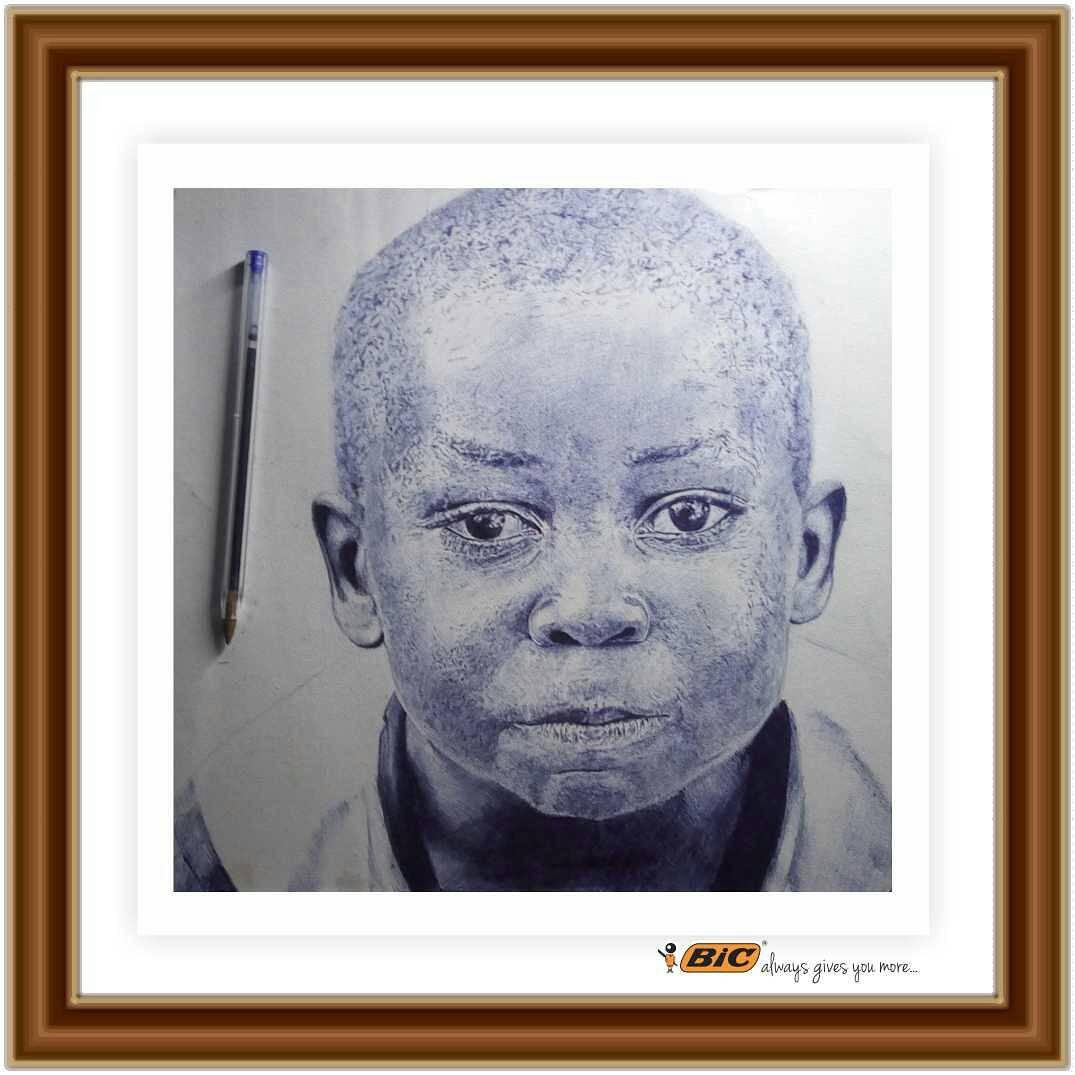 The greatest #investment we can make in Nigeria is to #invest in the children; invest your #money, invest your #time, invest your #love, invest your #energy, invest your #knowledge!   #BICPenArt by @olisco_art; a self-taught #artist based in Lagos   How many RTs for Olamide?<br>http://pic.twitter.com/4MWYDDAfR1