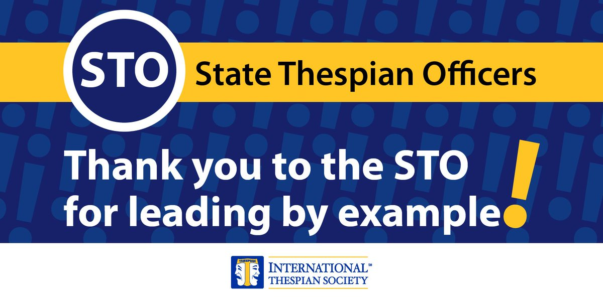 Today for #NationalVolunteerWeek, we thank and recognize another group of student leaders, our State Thespian Officers. They promote #Thespians coast to coast. Thank you! Show some love and tag an STO!<br>http://pic.twitter.com/RYMkUJfMqV