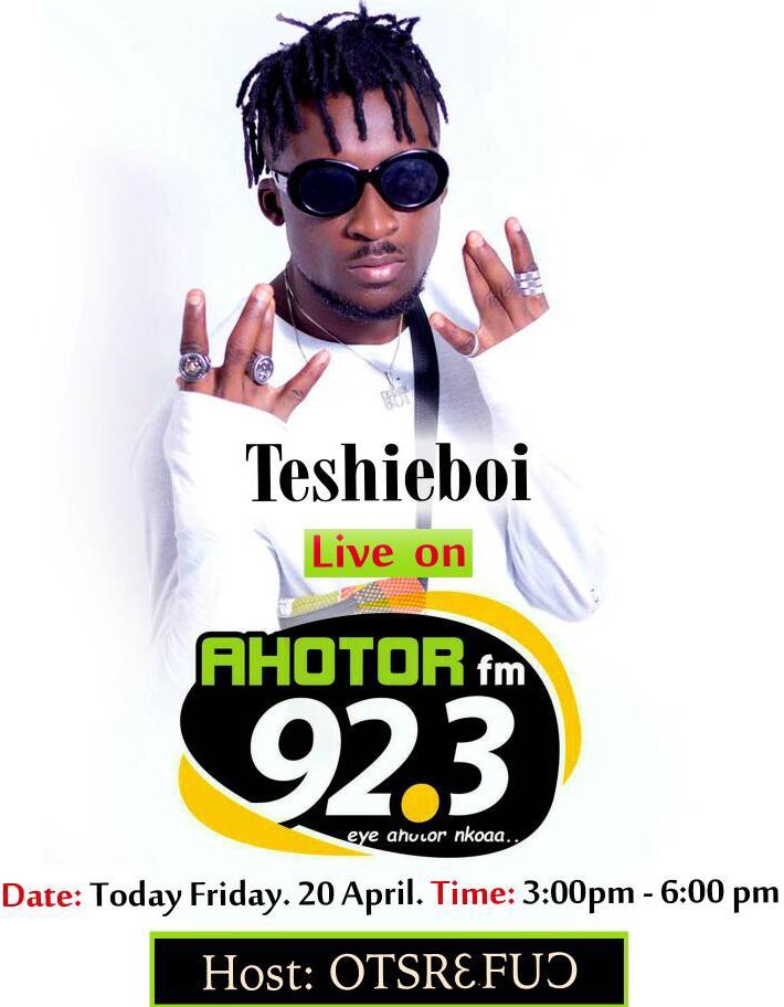 Tune in to @Ahotorfm923 today at 3pm, the #RebelBoss @RealTeshieBoi will be on live 🎯 https://t.co/mfJhYFZykF