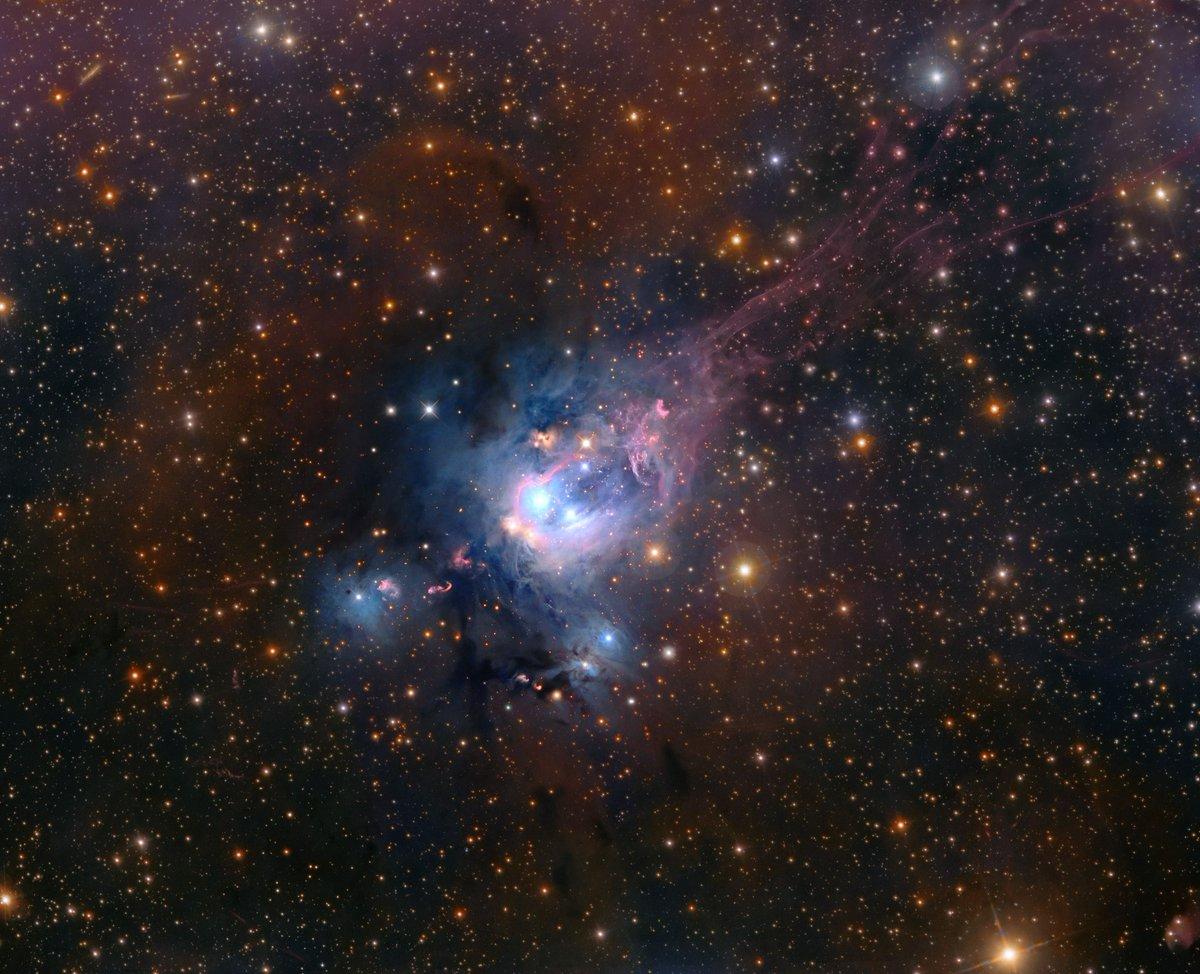 Resultado de imagen de Esta bonita imagen es de NGC 7129.