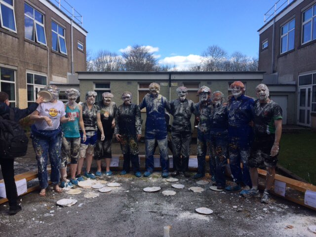 "Great fun in ""Gunk your teacher"" creative industries run event today. Raising £70 for @UNICEF well done and thanks to all involved #ambition #inclusion #respect #confidence #fun<br>http://pic.twitter.com/4K16IrkCSH &ndash; à Hazlehead Academy"