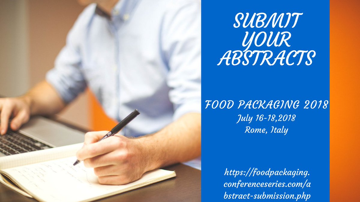 #food #preservation #nanotechnology #industry #beveragepackaging #foodandwine #foodscience #foodtech #foodengineering #foodchain all are invited to submit your articles and be our Speakers for Food Packaging 2018..  https:// foodpackaging.conferenceseries.com/call-for-abstr acts.php &nbsp; …  …<br>http://pic.twitter.com/p9fv3odrqV