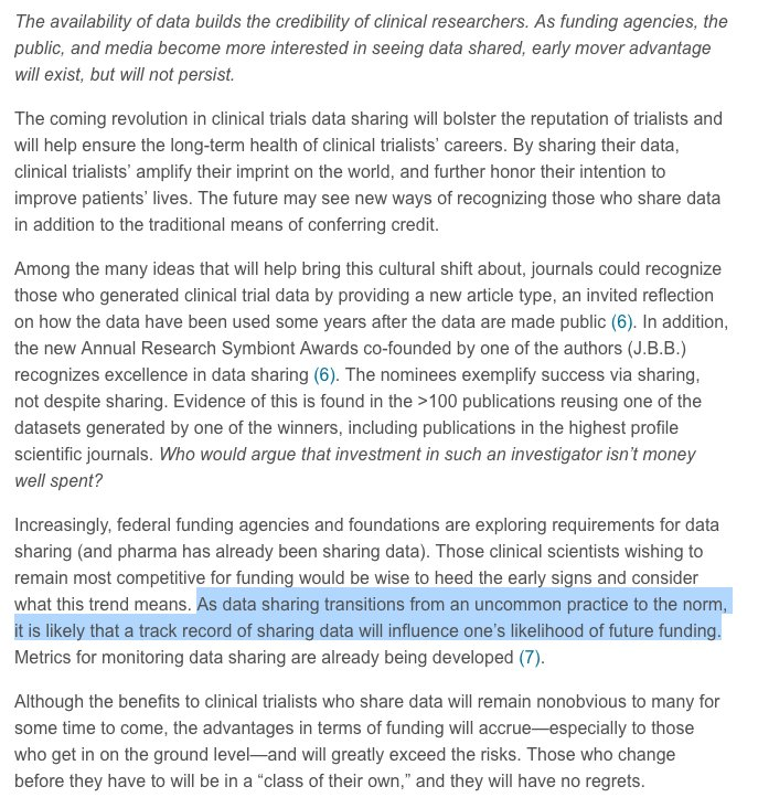 Interesting points made in an editorial by @thebyrdlab   #opendata #clinicaltrials #openscience #reproducibility   https://www. sciencedirect.com/science/articl e/pii/S2213177918301331?via%3Dihub &nbsp; … <br>http://pic.twitter.com/oTVP4CbVjZ
