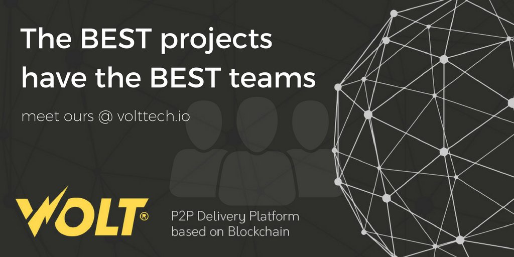 Come and meet our team and find out more about them and #VOLT -  https:// volttech.io  &nbsp;     We are planning to change the way goods and products are delivered, saving you time and money with our #decentralized platform based on #Blockchain.  #ICO #Crypto #TokenSale #IoT<br>http://pic.twitter.com/EIYUHeMQsh