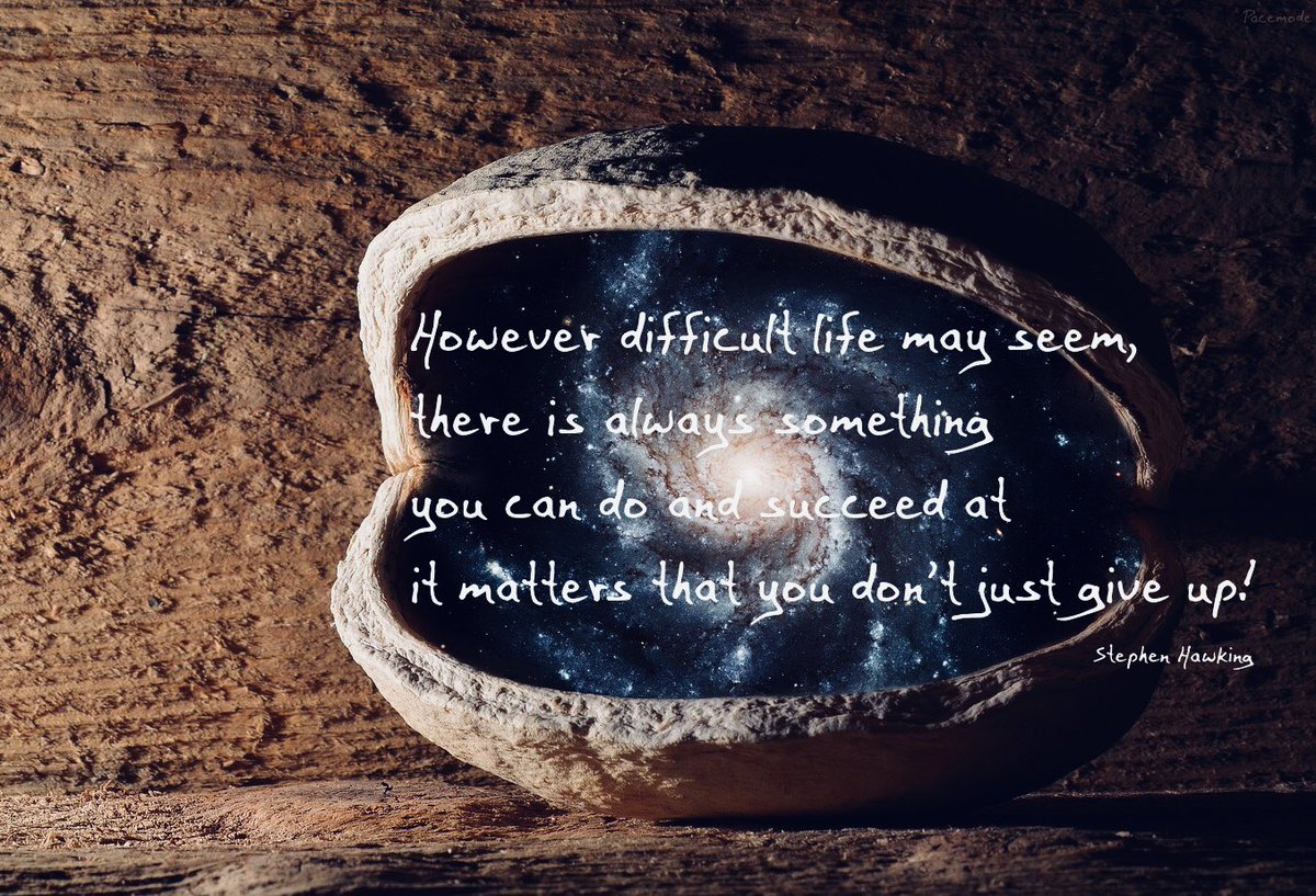 don't give up! #stephenhawking #quotes #foryou @thelpfn @leepaceitaly1 #Leepace  #PacerfamiLee <br>http://pic.twitter.com/A7G1FCLj9H