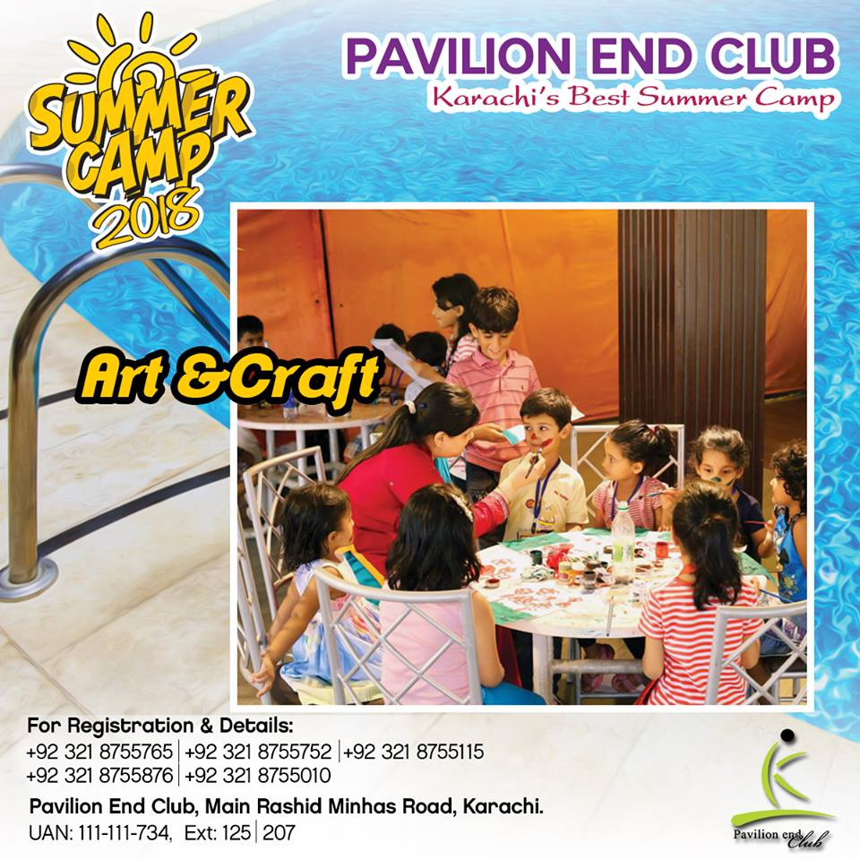 Every child is a star himself. Give him a chance to bring out his expertise by getting him enrolled in Arts & Crafts - PEC Summer Camp 2018. #summercamp #summercamp2018 #summeractivities  #activitiesforkidsinsummer #biggestsummercamp #bestsummercamp #summercampinkarachi #art https://t.co/8FkPctej8q