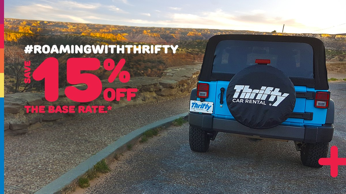 Thrifty Car Rental On Twitter Is Roamingwiththrifty In Your
