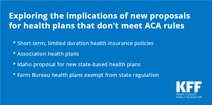 Short-term policies, association health plans, farm bureau plans, Idaho's proposed state-based plans – What are the tradeoffs when #healthinsurance doesn't comply with the ACA's rules? https://t.co/yuDPNzzJ3U