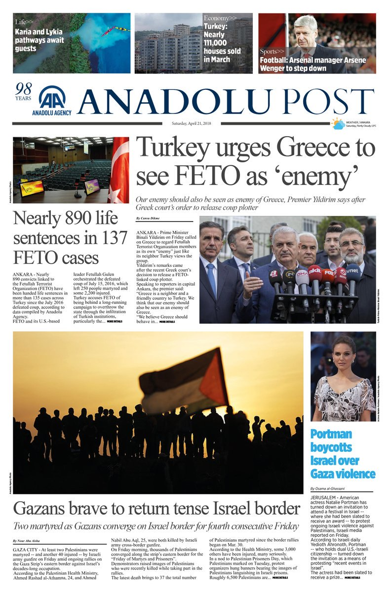 See today's top news with Anadolu Post https://t.co/CuJEJXYZxa https://t.co/RMkmxrHlws