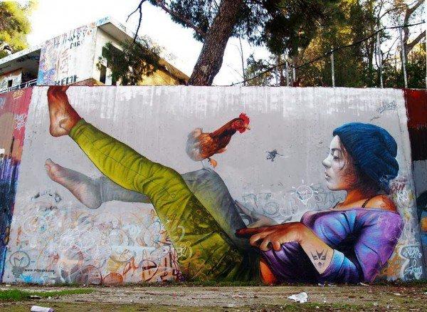 ... like a mask, like a sad girl. Awesome work by Pichi &amp; Avo in Athens, Greece #StreetArt #Art #Mask #Sad #Beauty #Graffiti #Mural #Athens @pichiavo<br>http://pic.twitter.com/NbGrrSiRRg