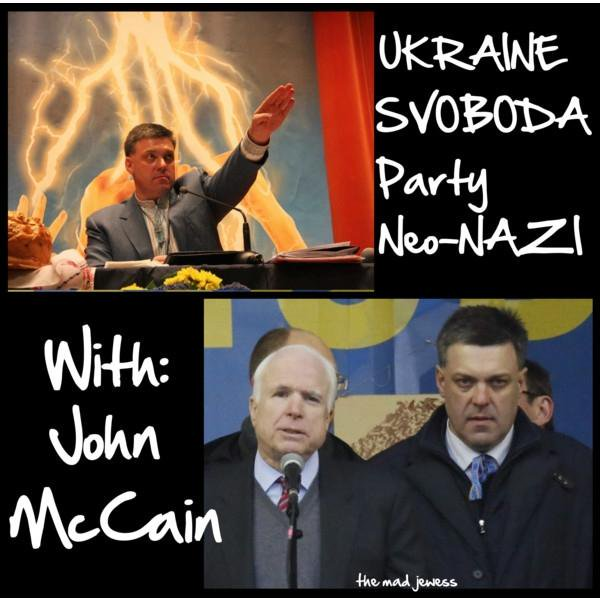 Image result for mccain with nazis ukraine, the mad jewess