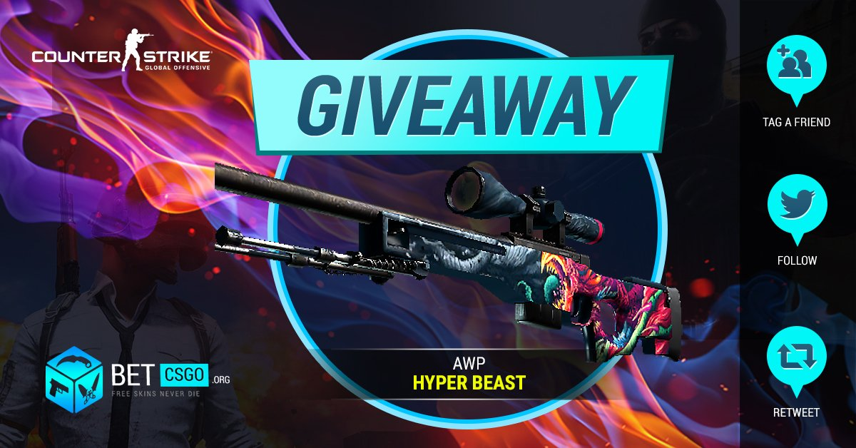 AWP HYPER BEAST 3 DAYS GIVEAWAY!   To Enter:  Retweet  Visit BetsCrypto:  https:// betscrypto.org  &nbsp;    Visit Bet-CSGO:  https:// bet-csgo.org  &nbsp;           Follow: @betcsgoorg  Tag a friend  Turn on our Twitter notifications  #CSGOGiveaway #CSGO #Crypto <br>http://pic.twitter.com/fzWGwFJ5W9